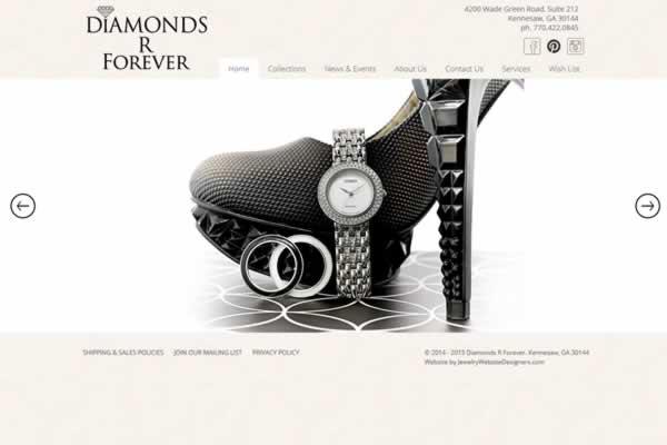 Jewelry Website Design Portfolio