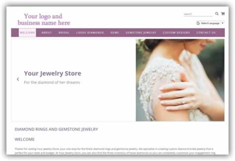 Retail Jewelers pre-built site